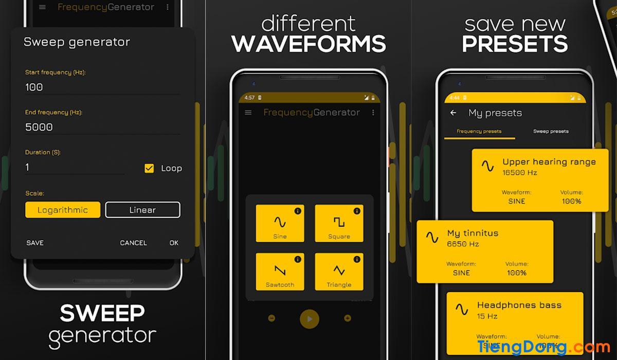 App vệ sinh, làm sạch loa điện thoại Android bằng âm thanh Frequency Sound Generator