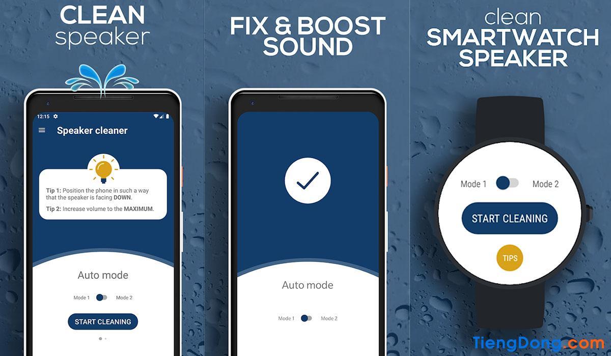 App làm sạch loa điện thoại Speaker Cleaner - Remove Water, Fix & Boost Sound