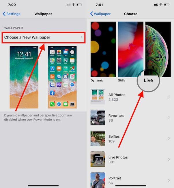 Cài đặt hình nền động trên màn hình khóa iPhone 2
