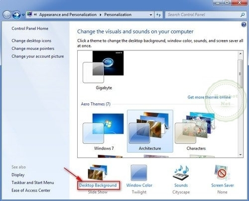 Cách cài hình nền cho máy tính Windows 7 3