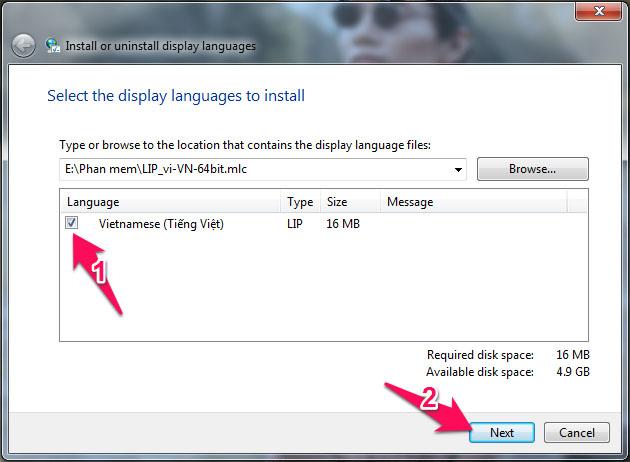 Cách cài ngôn ngữ Tiếng Việt cho Windows 7