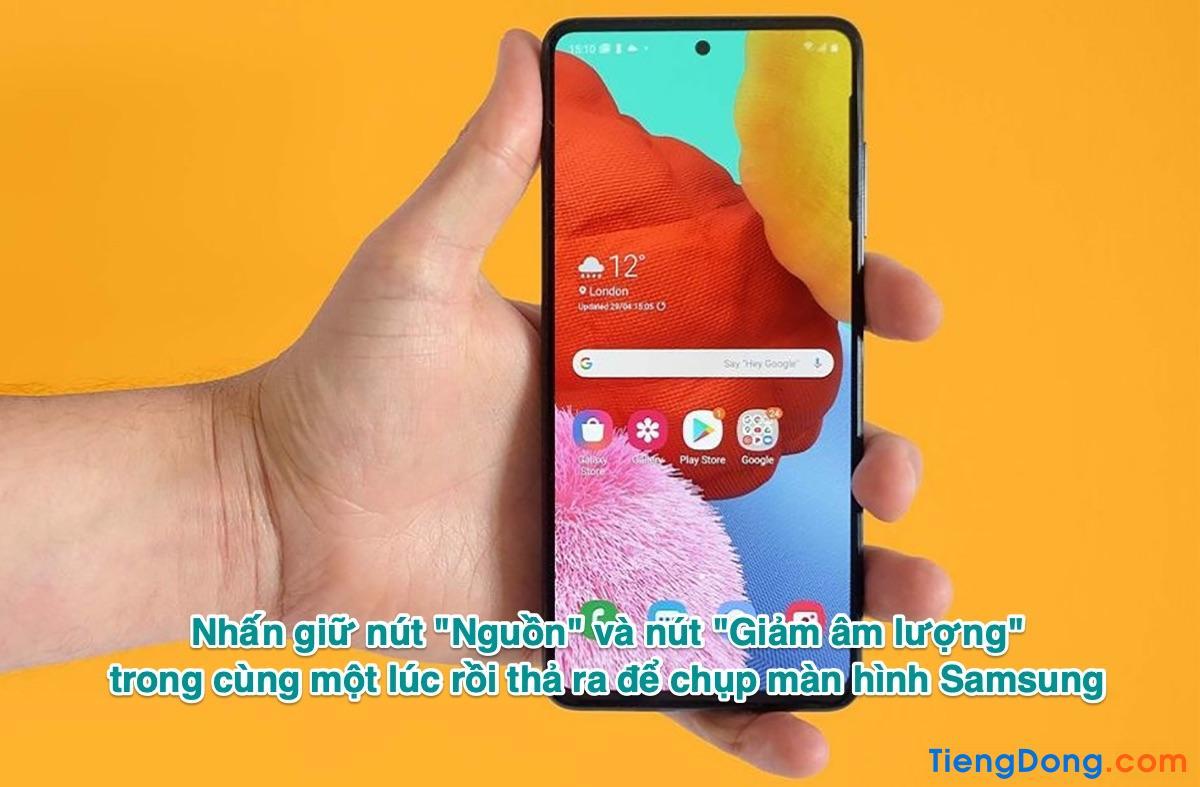 Cách chụp màn hình Samsung A52