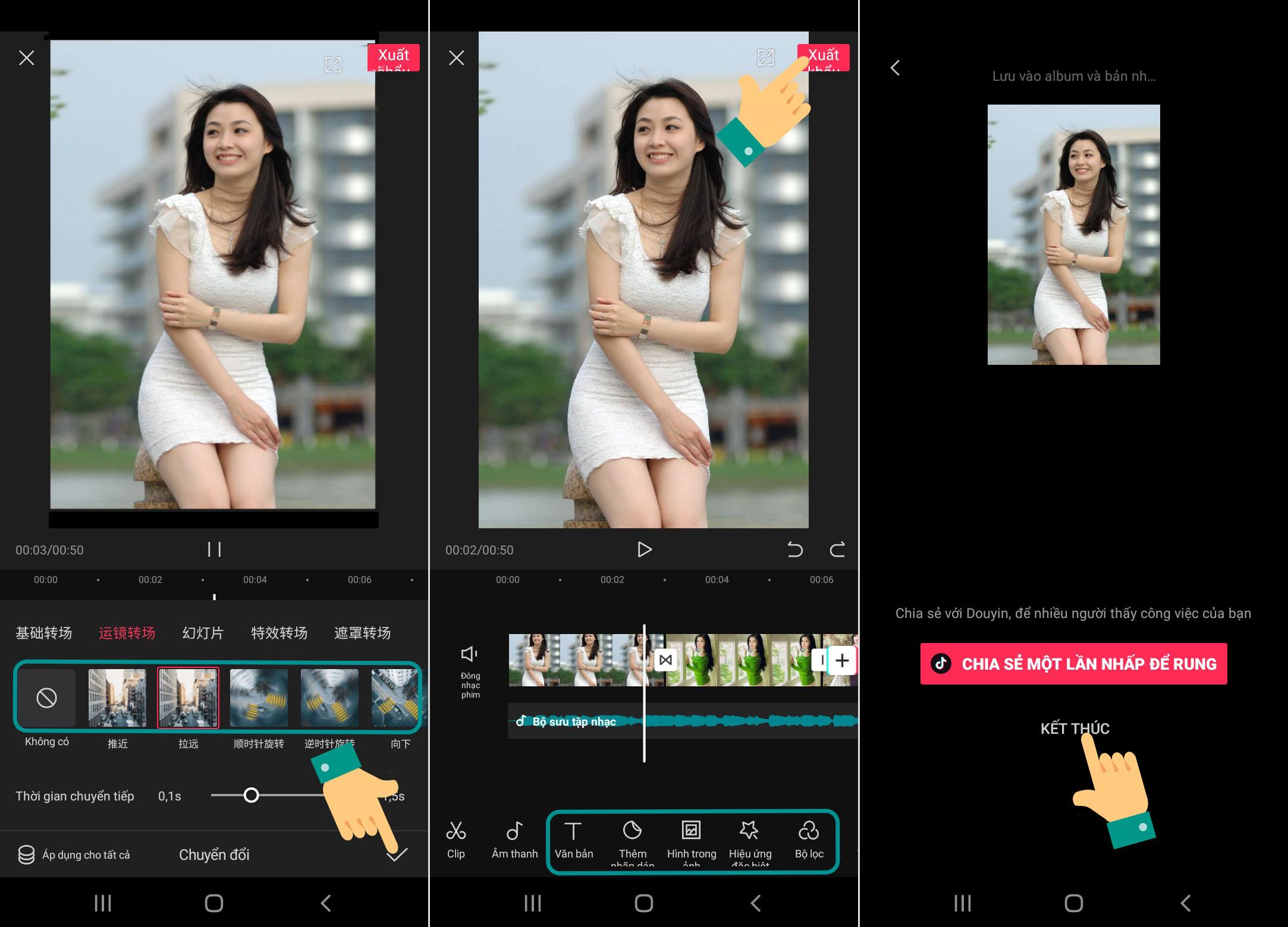 Cách edit video bằng app chỉnh video Trung Quốc JianYing 3