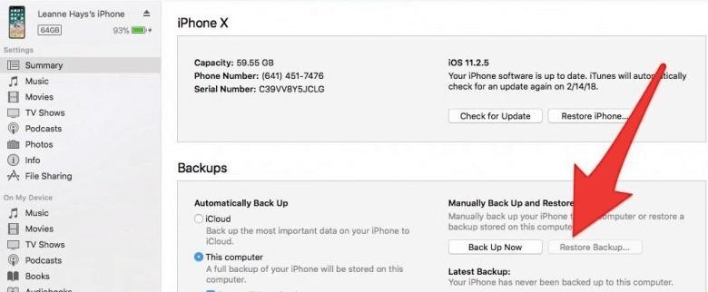 Cách khôi phục tin nhắn đã xoá trên iPhone