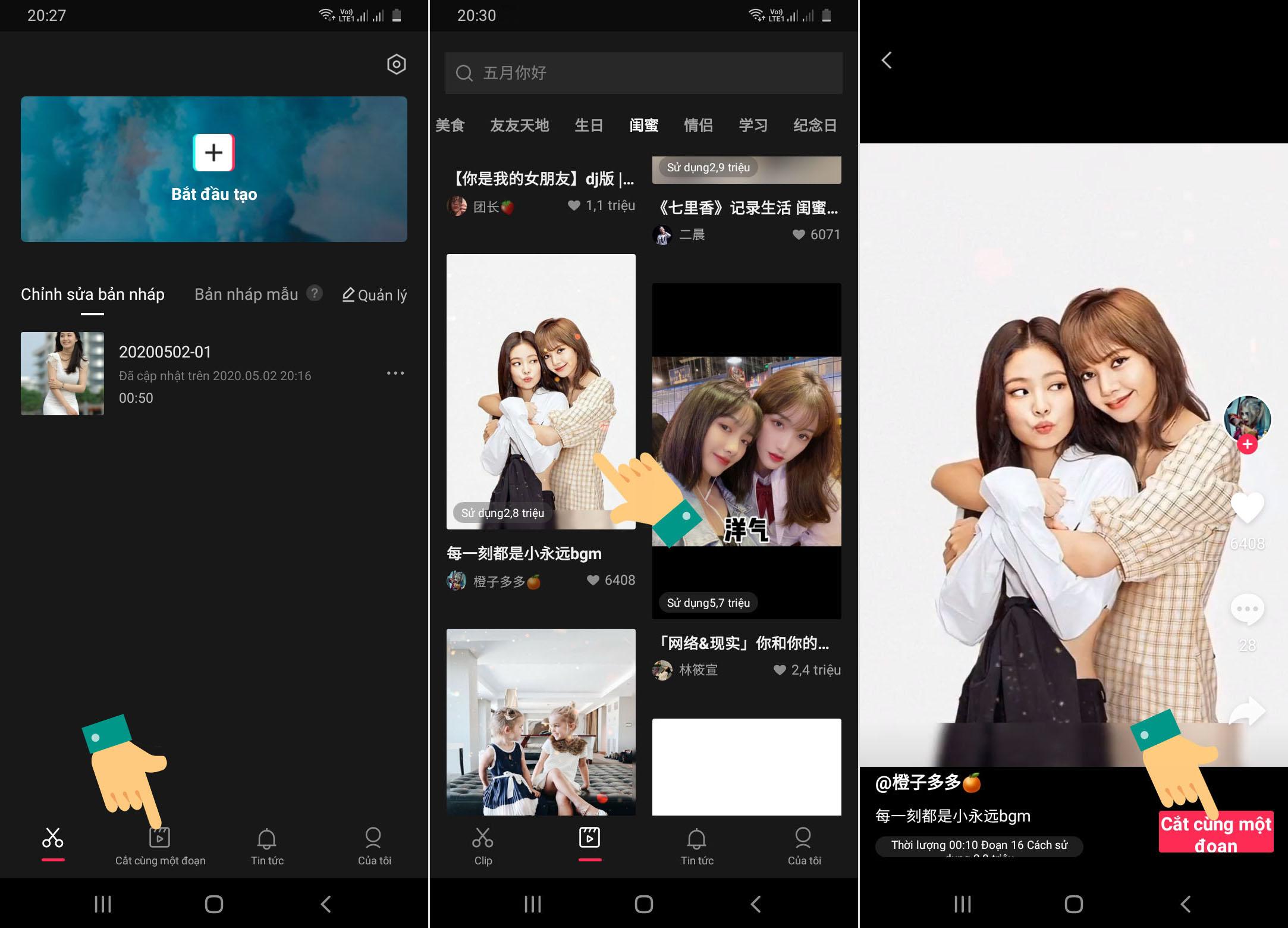 Cách làm video Tik Tok hiệu ứng đẹp với app chỉnh video Trung Quốc JianYing