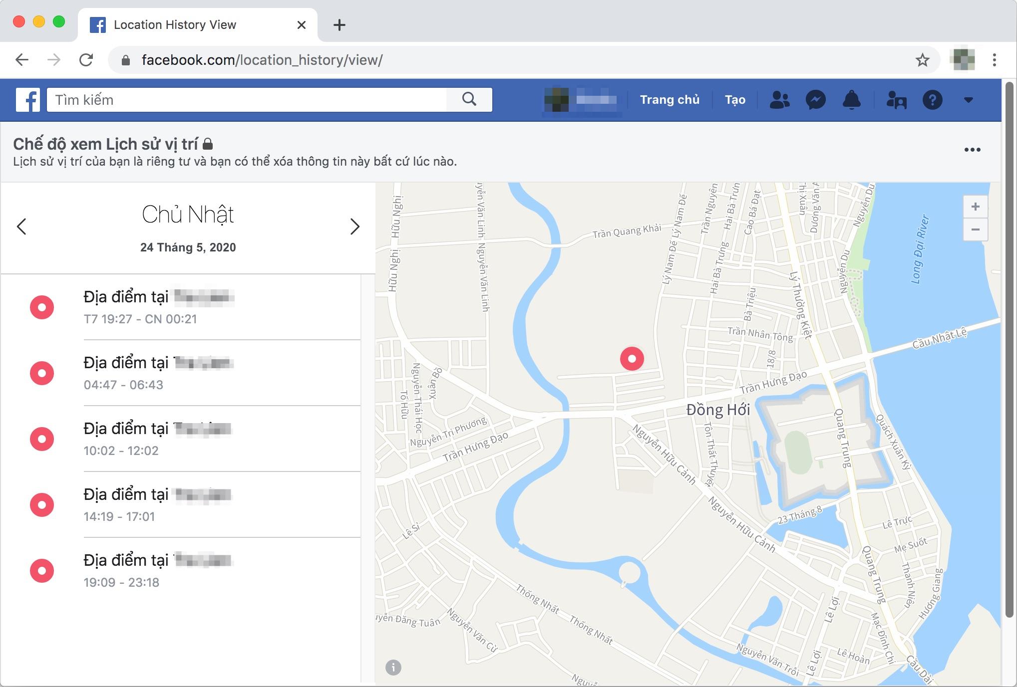 Cách tìm lại điện thoại bị mất bằng Facebook trên máy tính