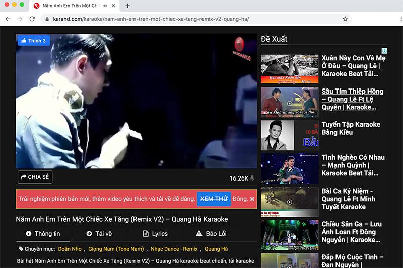 Phần mềm hát Karaoke trên máy tính Laptop Tiếng Việt karahd