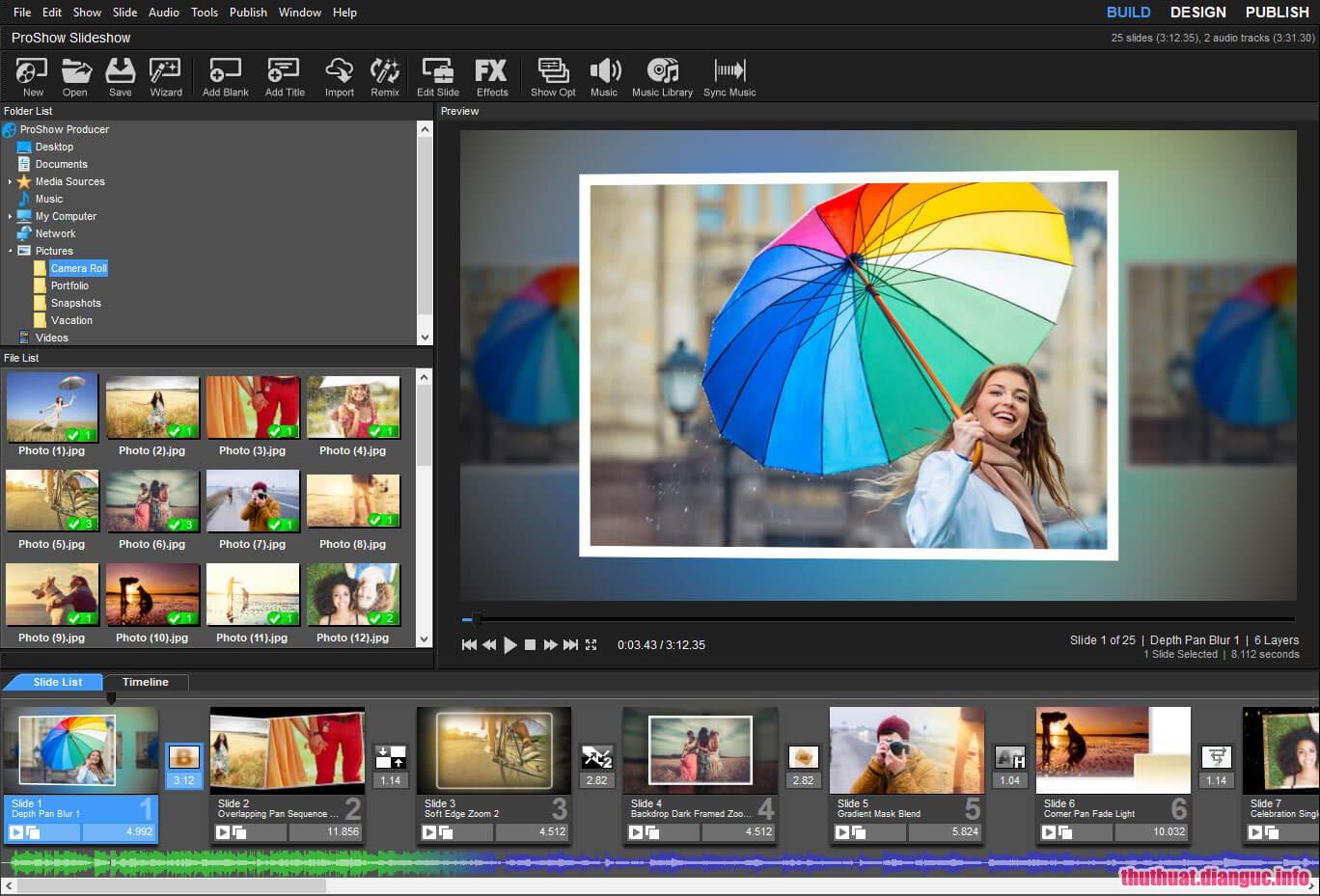 Phần mềm làm video trên máy tính chuyên nghiệp Proshow Producer