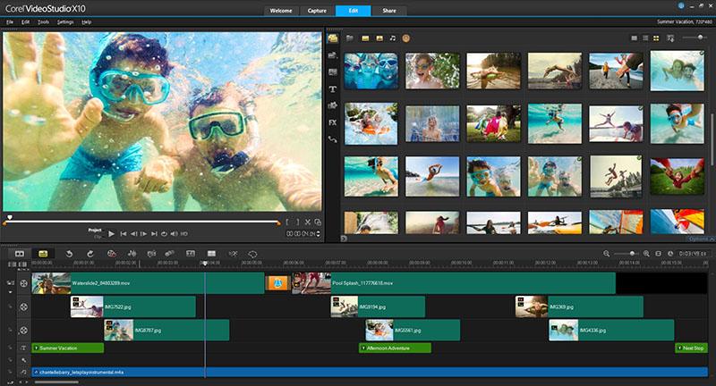 Phần mềm làm video Corel VideoStudio