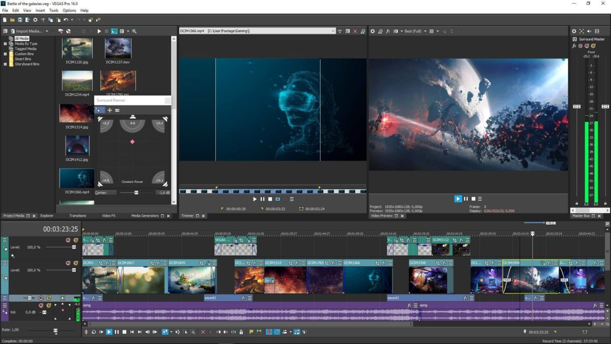Phần mềm làm video trên máy tính Sony Vegas Pro